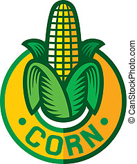 corn label (corn symbol, corn sign, corn badge)