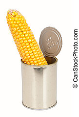 Corn on the cob in a can