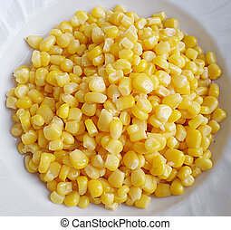 corn - sweet corn in a plate
