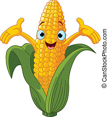 Corn Presenting Somethin%u043F - Illustration of a Sweet...