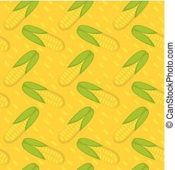 Corn seamless pattern. Maize endless background, texture. Vegetable backdrop. Vector illustration.
