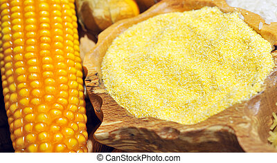 corn seeds and flour