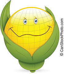Corn Smiley Face Vector