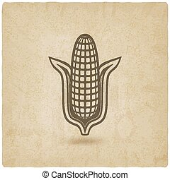 corn symbol old background