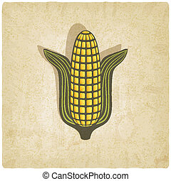 Corn symbol on old background