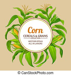 corn vector frame