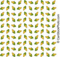 Corn wallpaper, illustration, vector on white background.