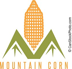 corn with abstract mountains vector design template