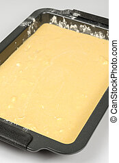 Cornbread mixture ready for oven