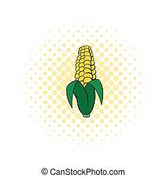 Corncob icon in comics style