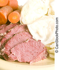 corned beef cabbage carrots  St. Patrick's Day meal