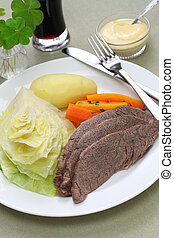 corned beef & cabbage, irish food