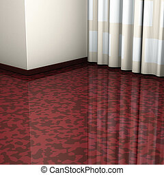 corner brown floor