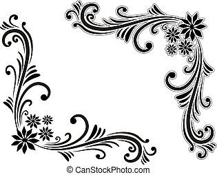 Hand drawn decorative corner elements