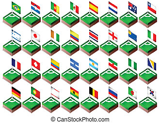 Corner flags for soccer tournament 2014
