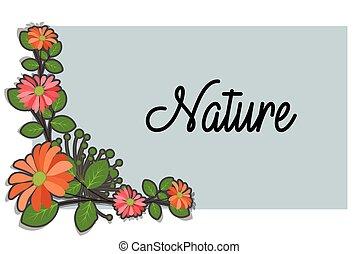 Corner Flowers Frame Vector Design