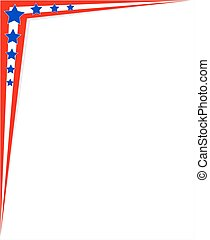 Corner frame American flag