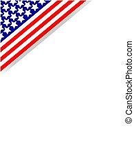 Corner frame American flag symbol