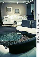 corner in modern room