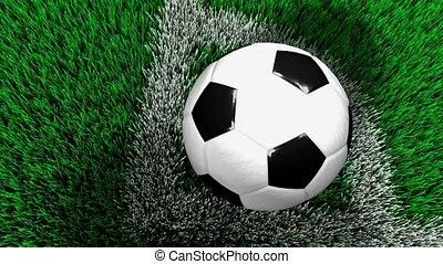 Corner kick - Soccer corner kick.