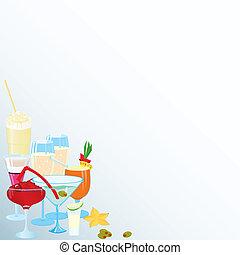 Corner-martini-cocktail-borders