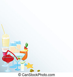 Corner-martini-cocktail-borders
