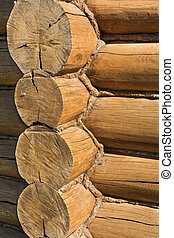 Corner of a log house