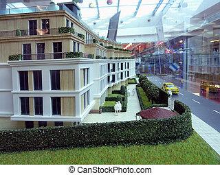 Corner of a New Building Model