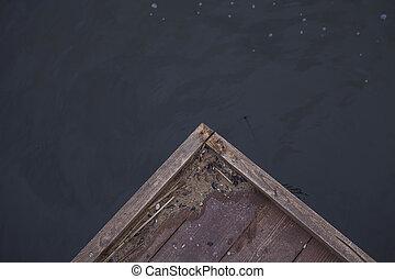corner of a wooden pier