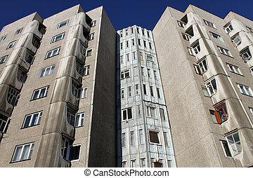 Corner of building - Corner of big apartment building in...