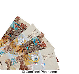 Corner of Kuwaiti quarter Dinar Banknotes.