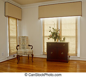 Corner of Living Room on Hardwood Floor