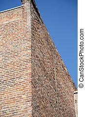 Corner of Old Brick Building