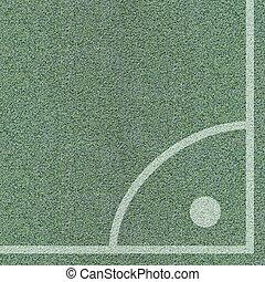 Corner of soccer field, view top