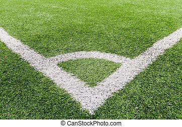 Corner of soccer (football) field