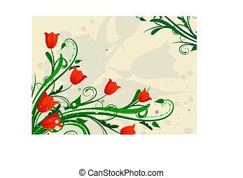Corner of tulips