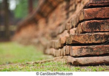 corner old brick