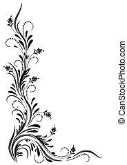 Angular decorative ornament for various design artwork