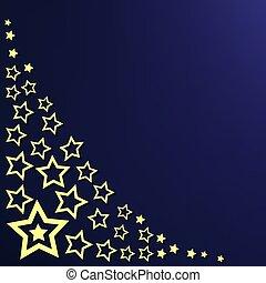 corner pattern with yellow stars on dark blue background
