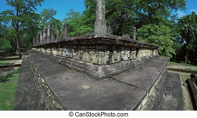 Corner Perspective of the Council Chamber of Polonnaruwa in Sri Lanka