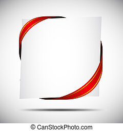Corner Ribbon - Red Corner Ribbon