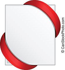 Corner ribbon vector illustration