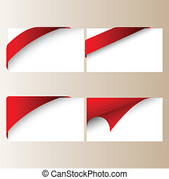 corner ribbons set vector illustration