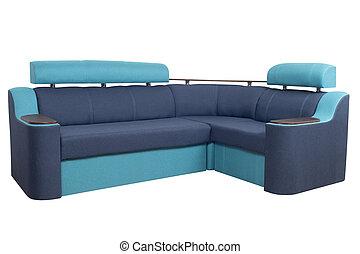 Corner sofa isolated on white background.