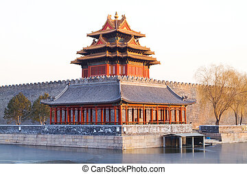 corner turret in forbidden city