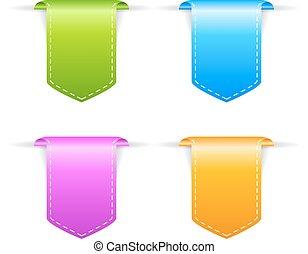Corner vector bookmark ribbons