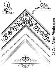 Corner with an ornament for the pag - Options of brushes and...