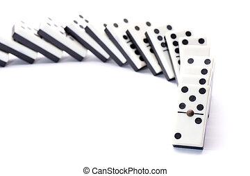 Cornering fallen domino