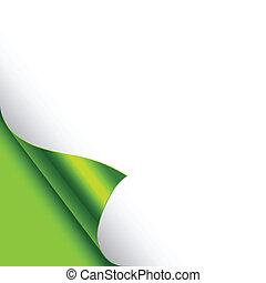 corners, фольга, curled