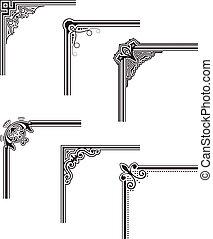 Corners - black decorative vector frame corners